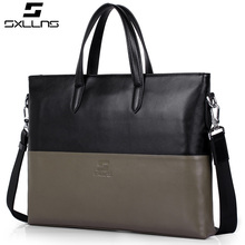 SXLLNS Leather men handbag, Customized wholesale business men tote bag
