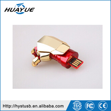 2015 Top selling products metal and plastic iron man hand 2.0 usb flash drive