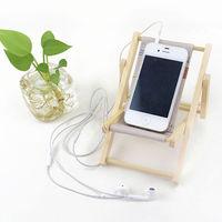Languo wood desktop cell mobile phone holder