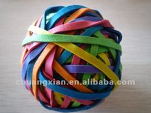 rubber balls of natural rubber band for gift