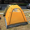 orange solar tent / inflatable cube tent / backpacking tent