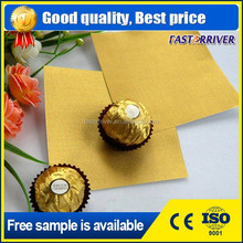 gold silver aluminum foil paper/china supplier customized aluminum foil laminated paper