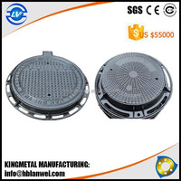 Manhole Cover en124 d400, locking manhole cover with Hinge