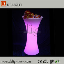 Commercial furniture remote control illuminated rechargeable night club furnishing for outdoor events