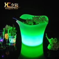 Plastic LED Wine Cooler Bar Club Champagne Pub Beverage Ice Bucket For Wedding Party