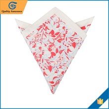 Fashion 100% Cotton Handkerchief for hot sales matching tie with pocket square