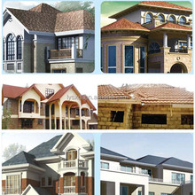stone coated steel roof tile easy operate despite roof tile brick machine
