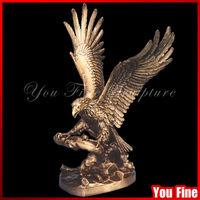 Indoor Decorative Casting Bronze Eagle Sculpture