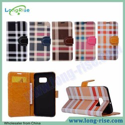 Wholesale Side Flip Wallet PU leather case for samsung galaxy note 5 edge
