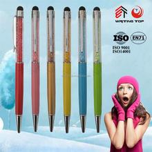 Luxury jewelled crystal stylus ball pen