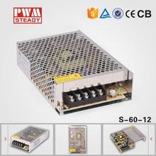 Single Output Switching Power Supply dc12V 5A 100~120V/200~240V AC input LED Power Supply 60W 12V transformer AC input Power