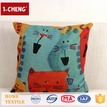 Hot Sale Creative Cartoon Colored Pattern Printing Design Cushion,Home Decor Pillow Case,Chairs Covers Embroidery Design