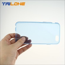 0.3mm ultra thin transparent clear tpu mobile case for iphone 6 case