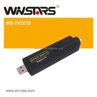 HOT USB 2.0 mini ATSC Digital air HDTV, USB ATSC TV Stick,support Digital Cable TV