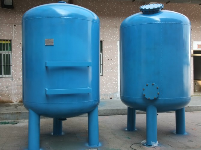 Carbon steel quartz sand mechanical filter components Swimming pool backwash holding tank