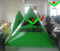 newest commercial pvc Triangular Custom Inflatable Buoys for water event