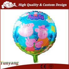 Foglio di alluminio palloncino peppa pig, cartone animato a forma di palloncini