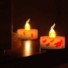 halloween wireless flameless candles led party decoration parts led tea light yellow quality wholesale electric candle warmers