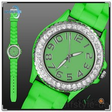 Stainless steel case back silicone watches for promotion for his and her from china factory with wholesale price