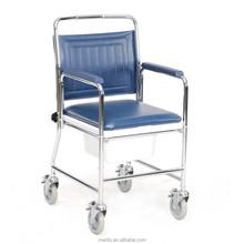 C103 mobile commode plastic chair portable toilet