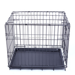 Wire Stainless Steel Mesh Pet Cage Black S M L Dog Cage