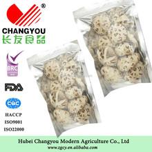 Eco-friendly dried deep white flower mushroom company