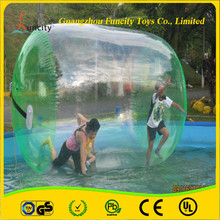 1.0mm thickness PVC/TPU inflatable water roller, durable water wheel, colorful lawn roller