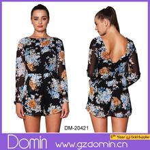 Moda Mujer V back print floral & mono mono