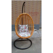 balcony hanging chair egg shape both outdoor & indoor rattan swing chair