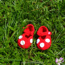 Polka Dot Crochet Pattern Baby Girl Shoes