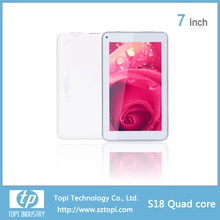 7 inch wifi Quad Core Tablet PC with 5 points touch capacitive Tablet PC and 1024x600 HD displayTablet PC