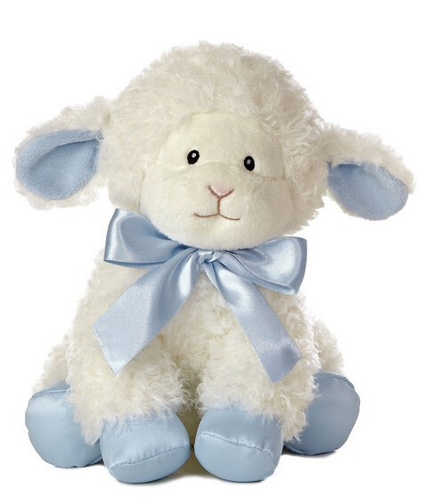 Toy stuffed lamb with soft music musical toy soft white sheep battery
