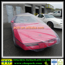 Competitive price plastic pe rain protection automobile cover,plastic protective cover for car