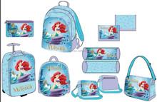 2015 cute girl princess little mermainsschool bag for students