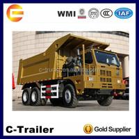 Mining dump trucks 70ton loading capacity