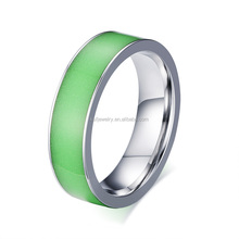 Fashion Stainless Steel 316l Mood Ring Fluorescence Ring Wholesale