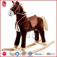 2016 new design motorized plush riding horse stuffed toy for kids