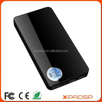 Portable power bank mobile charger 10000mAh external battery with LCD display