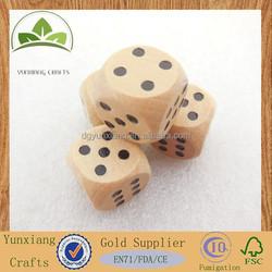 handmade wooden dice set 16mm wooden dice black dots