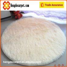 Trade assurance Comfortable roundness shaggy rugs,Waterproof silk carpet rug