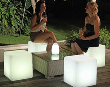 Modern designe different size square led ice cube/led chair for outdoor