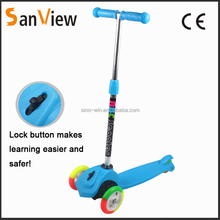 2016 new design front lock button kids kick scooter kids mini scooter