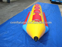 high quality commercial or private inflatable 4 person banana pencil water sled boat