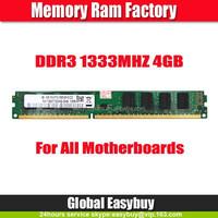 China market of electronic Cheap ram ddr3 4g 1333mhz 10600 desktop 240pin