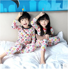 cotton Long sleeves baby children clothing sets suits pajama 2 piece