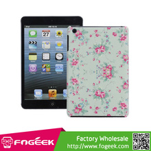 High Quality Colorful Flowers Design Plastic Protector Skin Case for iPad Mini