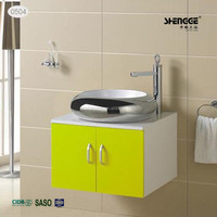 chaozhou tops fashionable MDF bathroom vanity made in china