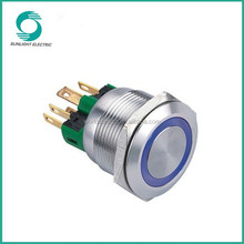 Illuminated and Non-Illuminated 22mm Momentary 2NO2NC protective cover 12 volt push button switch
