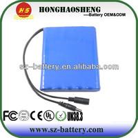 High voltage 12v 8ah li-ion 18650 battery pack