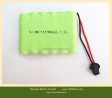 Hot sale nimh aaa 7.2v 700mah rechargeable battery pack for baby audio monitor